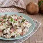 Risotto funghi e pancetta - primo piatto facile