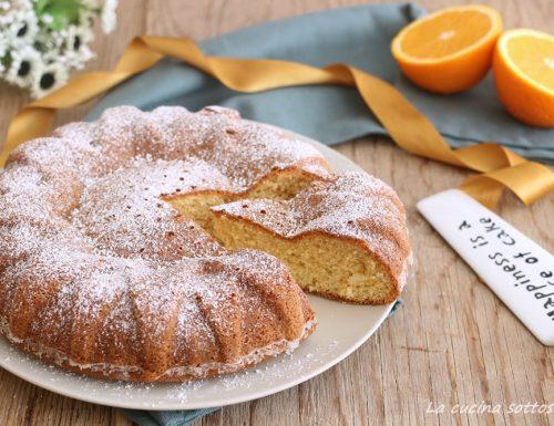 Torta al succo d'arancia senza glutine latte e burro