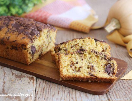 Plumcake zucca e cioccolato con Bimby e senza – senza lattosio
