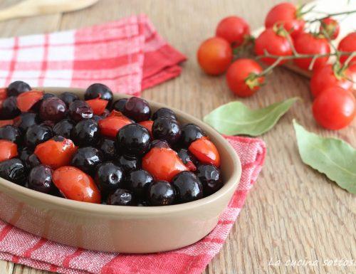 Olive nere fritte con pomodorini – ricetta pugliese