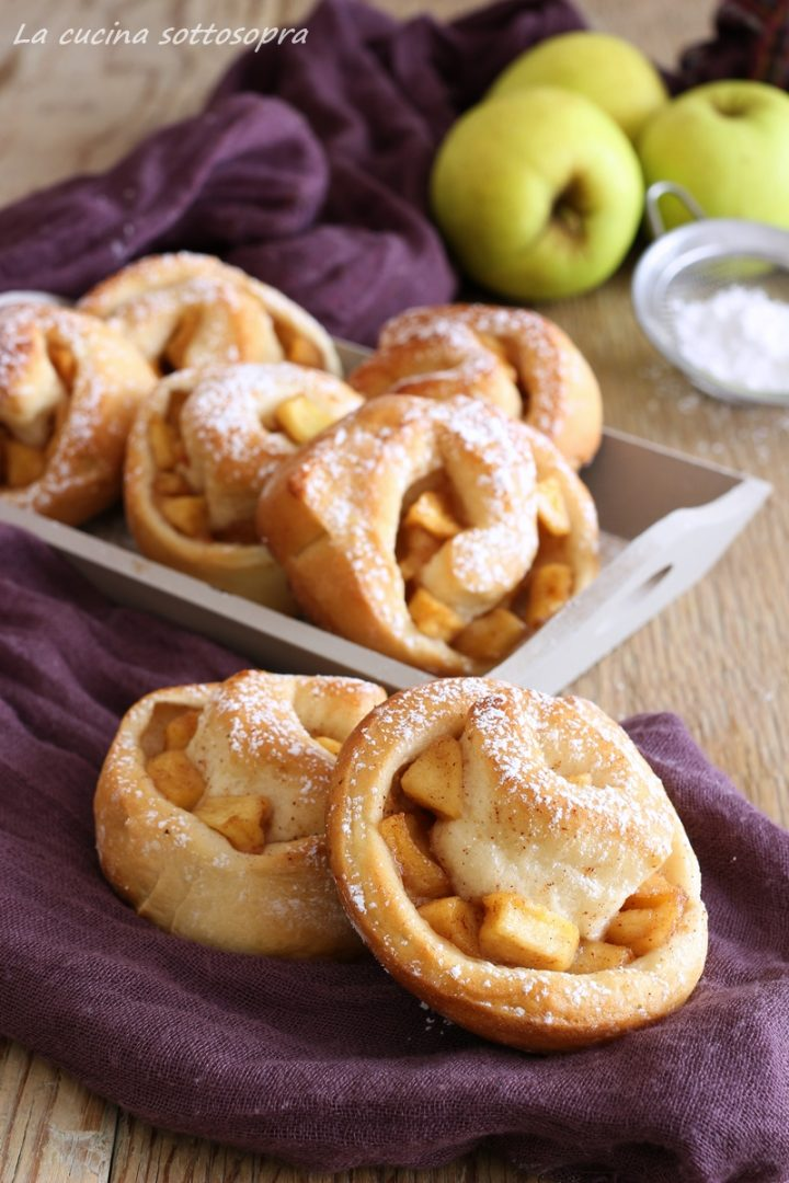girelle di brioche mele e cannella