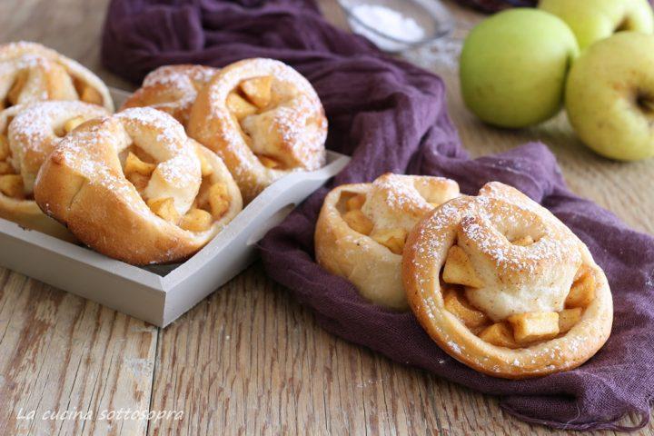 girelle di brioche mele e cannella senza lattosio