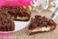 Sbriciolata al cacao con crema e amaretti