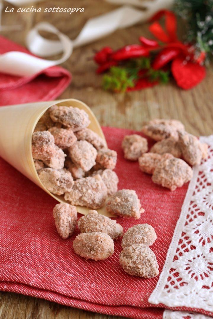 mandorle zuccherate o pralinate ricetta natalizia