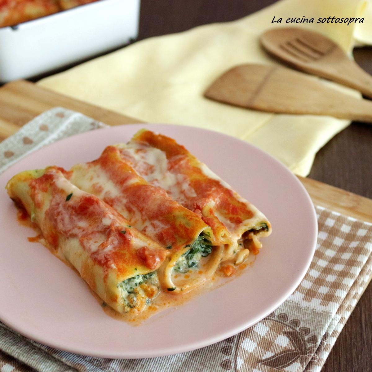 cannelloni ricotta e spinaci ricetta