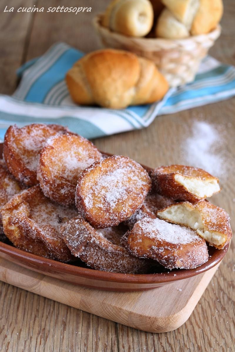 frittelle dolci di pane raffermo - ricetta del riciclo