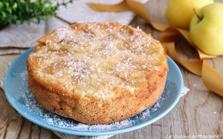 Torta rovesciata di mele al cocco con Bimby e senza – senza lattosio