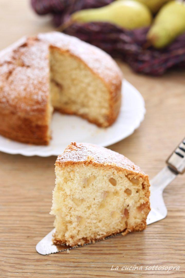 torta cocco e pere senza burro e latte