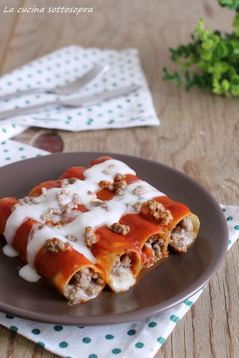 Cannelloni carne e mozzarella