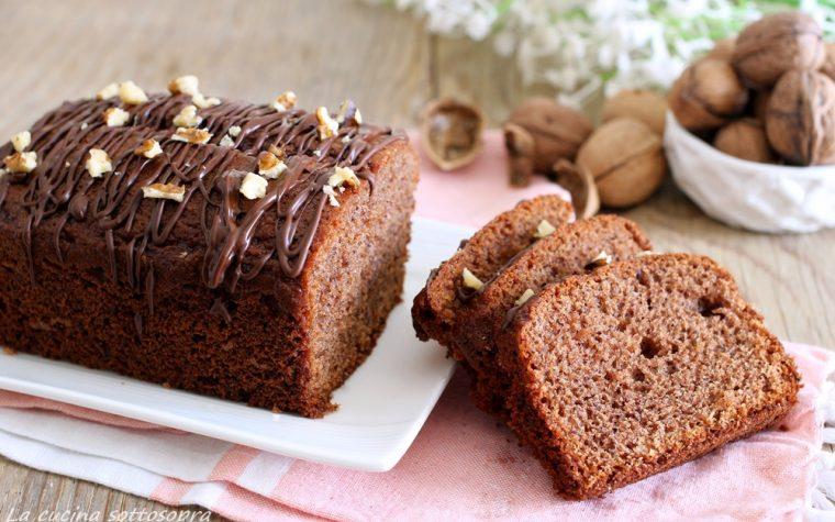 Plumcake cioccolato e noci con Bimby e senza Bimby – senza lattosio