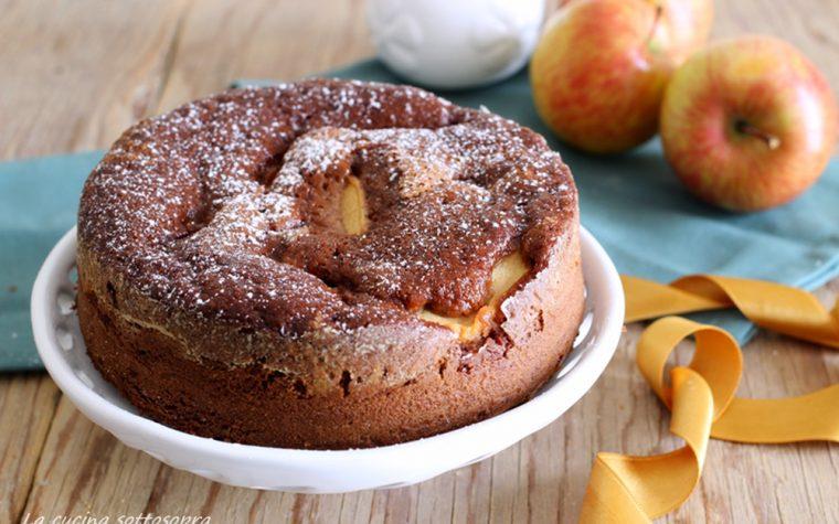 Torta di mele al cioccolato fondente con Bimby e senza Bimby