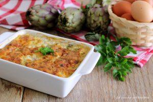 tortino di carciofi e uova ricetta pugliese