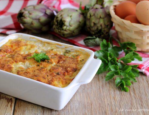Tortino di carciofi e uova – ricetta pugliese