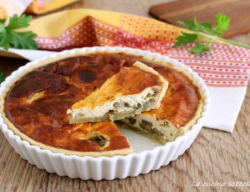Torta salata ricotta e carciofi con Bimby e senza Bimby