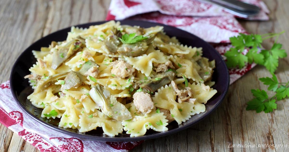 Pasta con tonno e carciofi primo piatto veloce la cucina for Primo piatto veloce