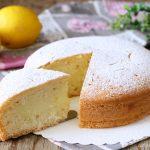 Torta ripiena di crema al limone - senza lattosio e burro