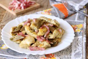 Petto di pollo carciofi e pancetta