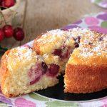 Torta ciliegie e cocco senza burro