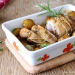 arrosto di pollo con patate e cipolle secondo piatto