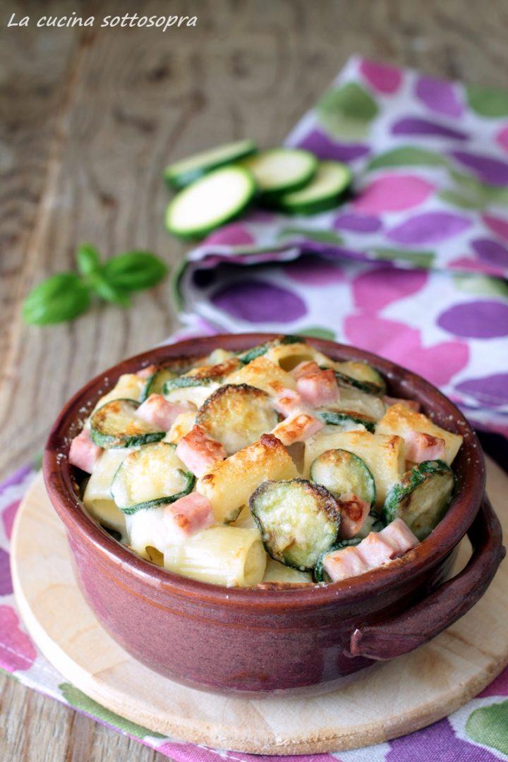 pasta al forno zucchine e prosciutto