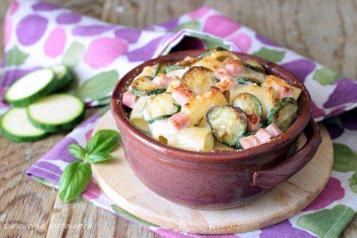 pasta al forno zucchine e prosciutto cotto