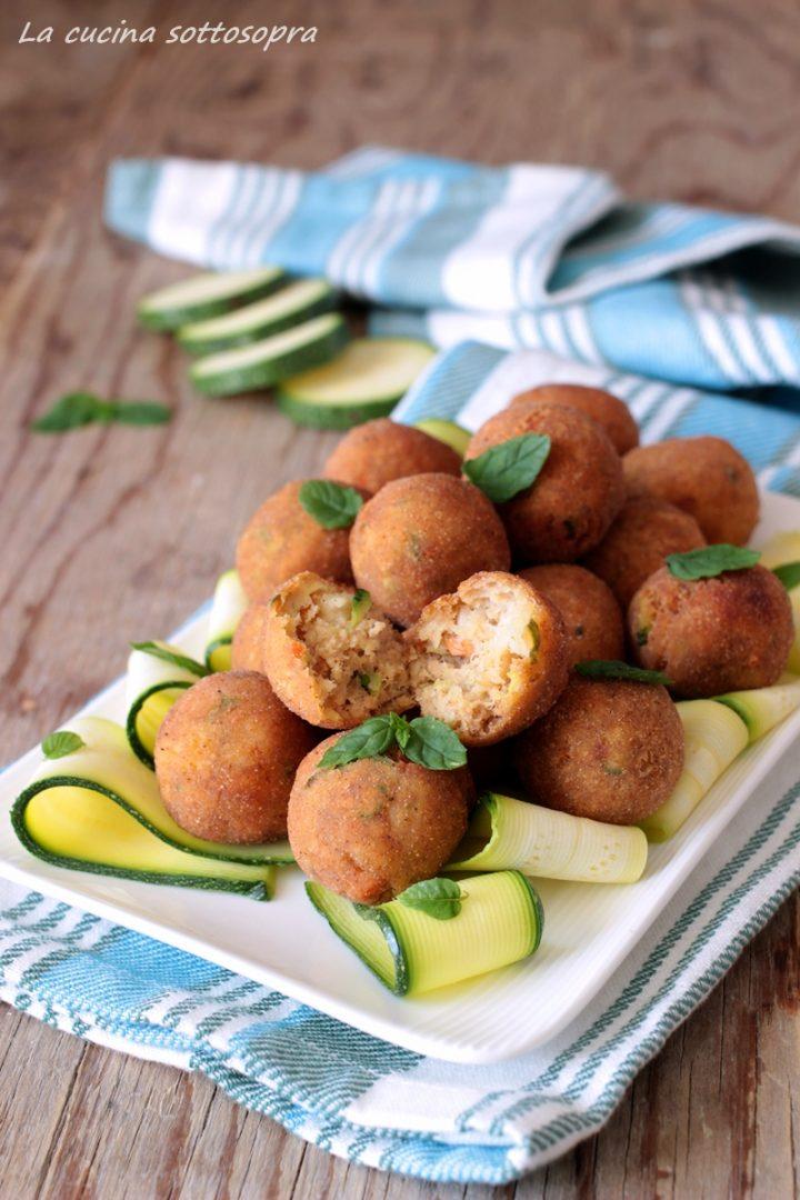 polpette di gamberi e zucchine