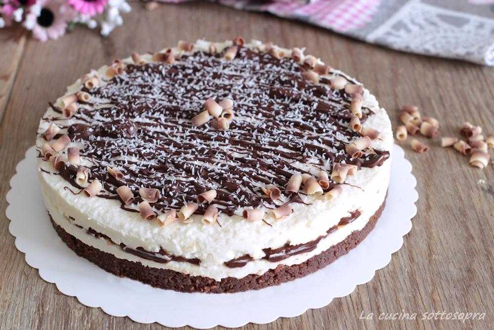 cheesecake cocco e cioccolato fondente ricetta