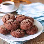 Biscotti integrali senza burro al cacao