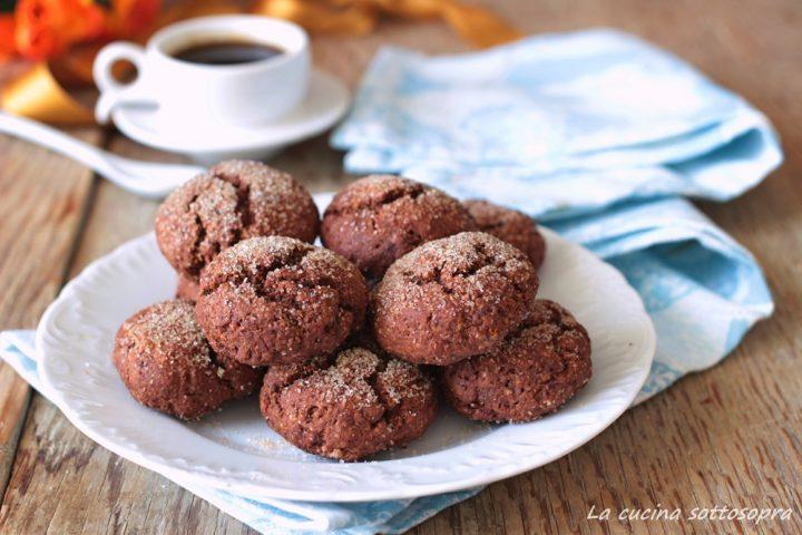 biscotti integrali senza burro al cacao ricetta facile