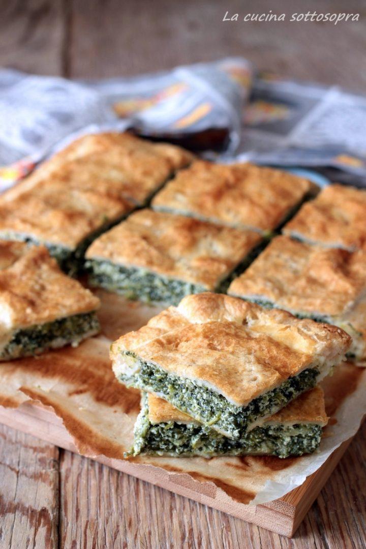 torta rustica di sfoglia ricotta e spinaci