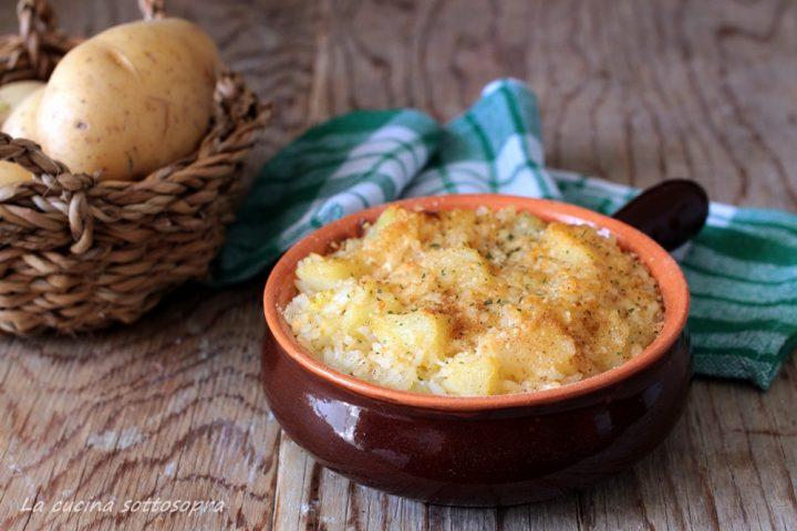 riso e patate al forno gratinato
