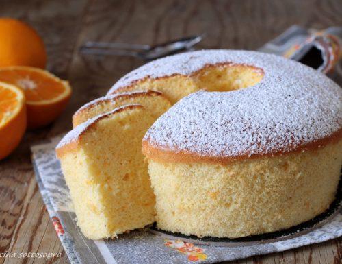 Chiffon cake all'arancia con Bimby e senza Bimby
