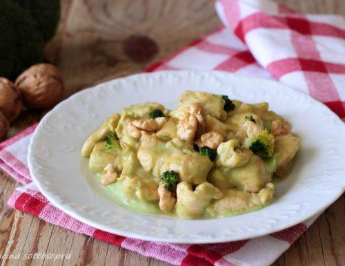 Pollo con crema di broccoli e noci
