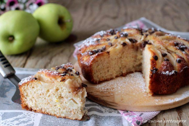 torta integrale mele e yogurt con Bimby e senza bimby