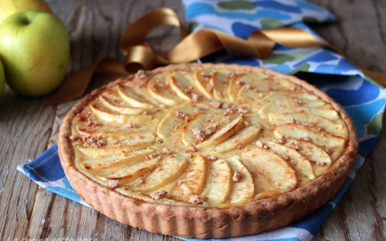 Crostata crema e mele senza burro