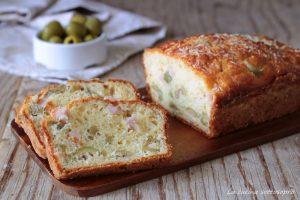 plumcake salato bimby con prosciutto e olive verdi