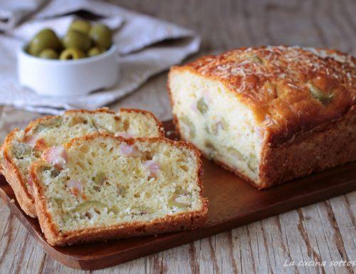 Plumcake salato Bimby con prosciutto e olive verdi – anche procedimento tradizionale