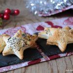 Stelline di pasta brisè ripiene - idea antipasto veloce di Natale