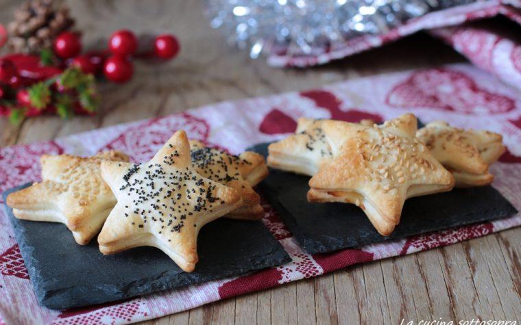 Stelline di pasta brisè ripiene – idea antipasto veloce di Natale