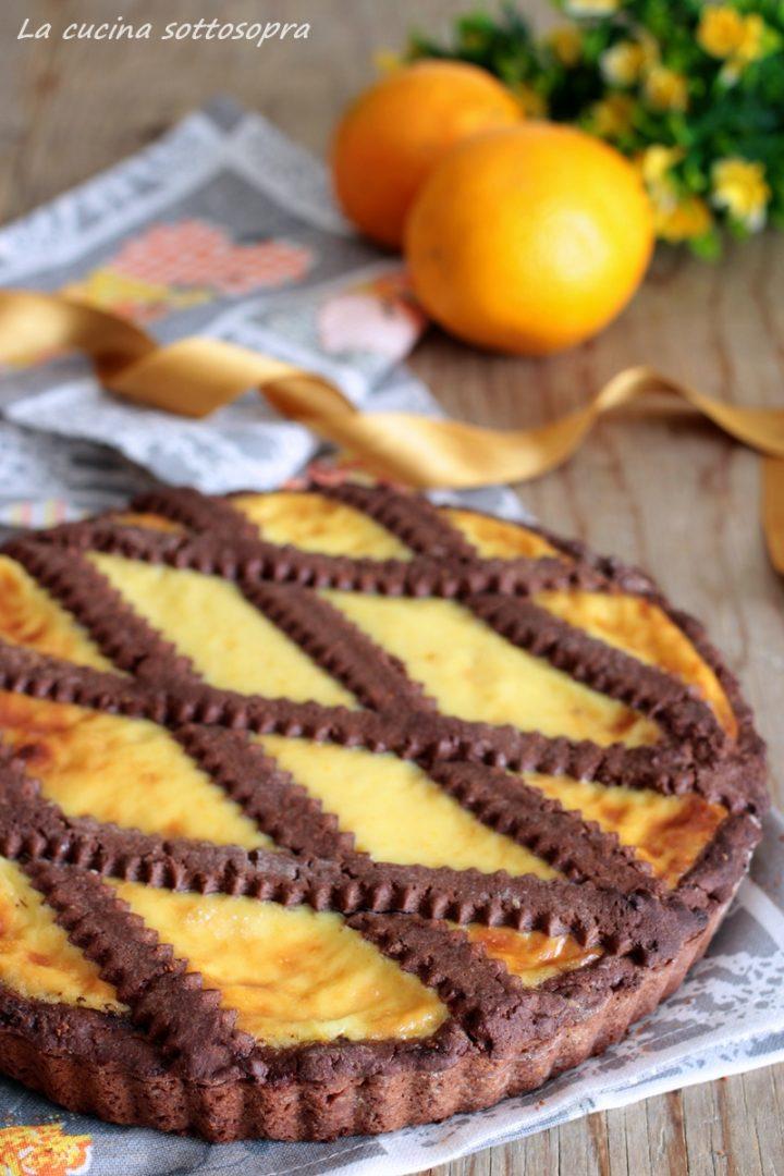 crostata arancia e cioccolato senza burro