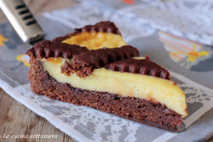 crostata arancia e cioccolato fetta