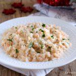risotto al salmone e spumante ricetta natalizia