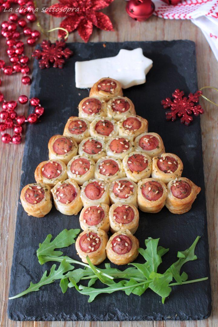 Antipasti Di Natale Wurstel.Albero Di Sfoglia Con Wurstel Antipasto Di Natale Con Pasta Sfoglia Facile