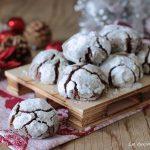 Chocolate crinkles cookies - biscotti di Natale al cioccolato con e senza Bimby