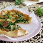 Torta salata con cime di rape e mozzarella