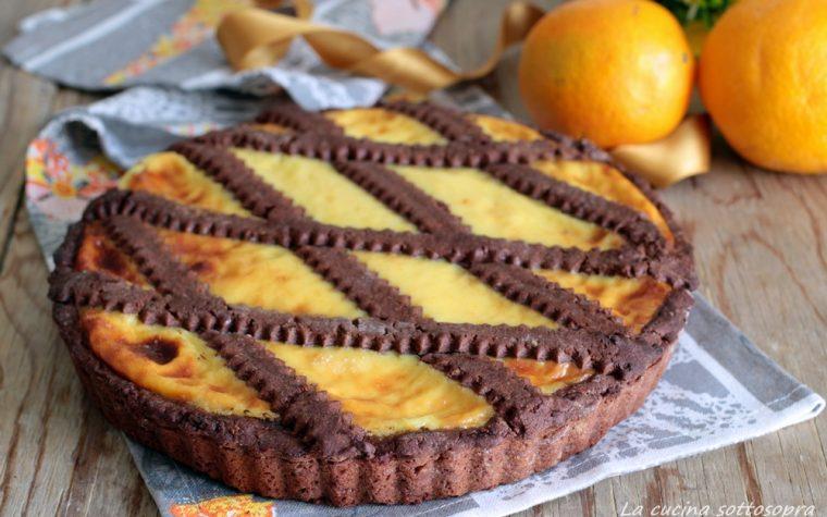 Crostata arancia e cioccolato – senza burro