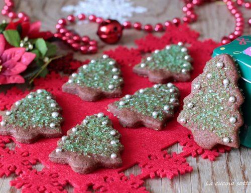Biscotti alberelli al cacao