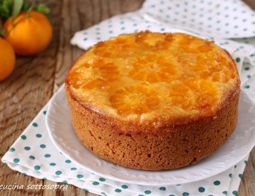 Torta rovesciata ai mandarini – senza burro e latte (procedimento anche Bimby)