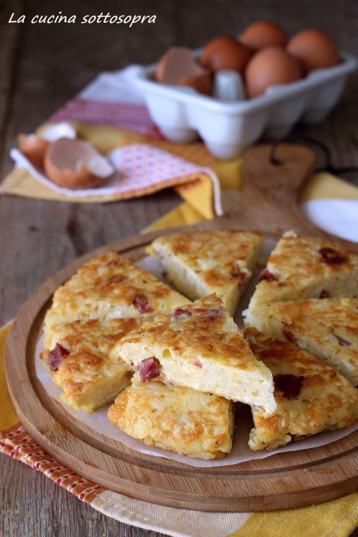 frittata di riso con salumi e formaggi