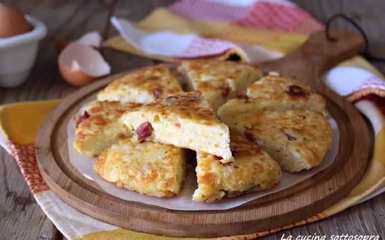 Frittata di riso con salumi e formaggi – ricetta svuotafrigo